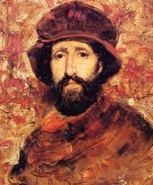 Frank Duveneck - Fellow Artist in Costume