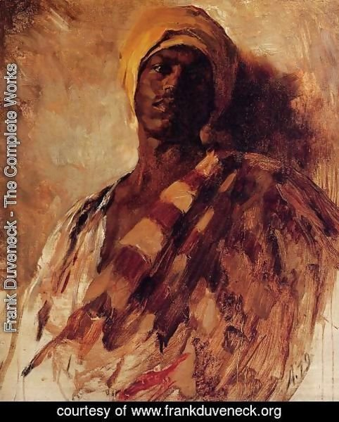 Frank Duveneck - Guard of the Harem (study)