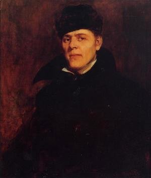 Frank Duveneck - Portrait of Major Dillard H. Clark