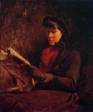 Frank Duveneck - Girl Reading