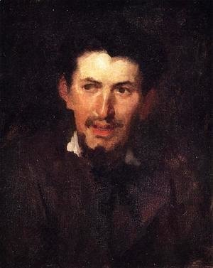 Frank Duveneck - Portrait of a Fellow Artist