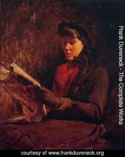 Frank Duveneck - Girl Reading I