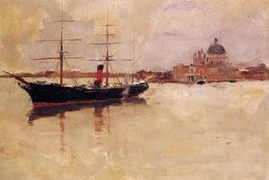 Frank Duveneck - Ship in Grand Canal