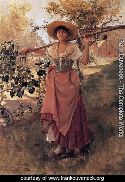 Frank Duveneck - Girl with Rake I