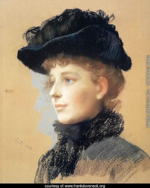 Portrait of a Woman with Black Hat I