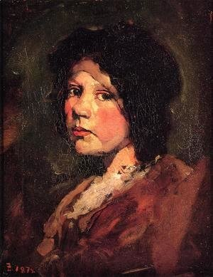 Frank Duveneck - Girl in Black Hood