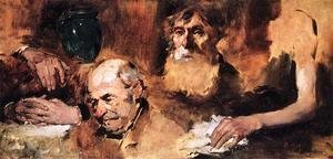 Frank Duveneck - Heads and Hands (study) I