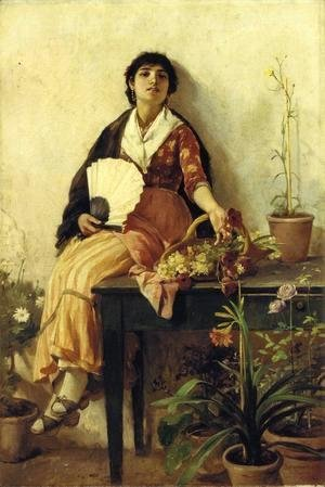 Frank Duveneck - The Florentine Girl I